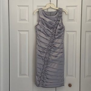 Beautiful silver/pewter colored satin dress